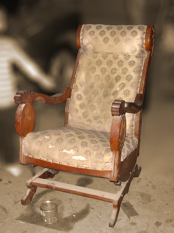 Antique Platform Rocker Brucker S