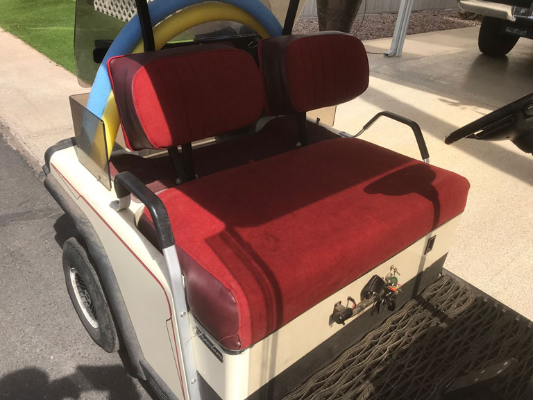 Cloth golf cart seat